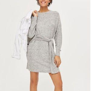 Topshop Tie Front Dress (Size 4)